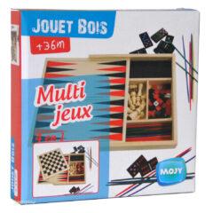 Multi-Jeux Jouet Bois 4 en 1