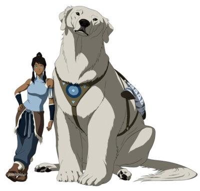 Korra et son chien polaire