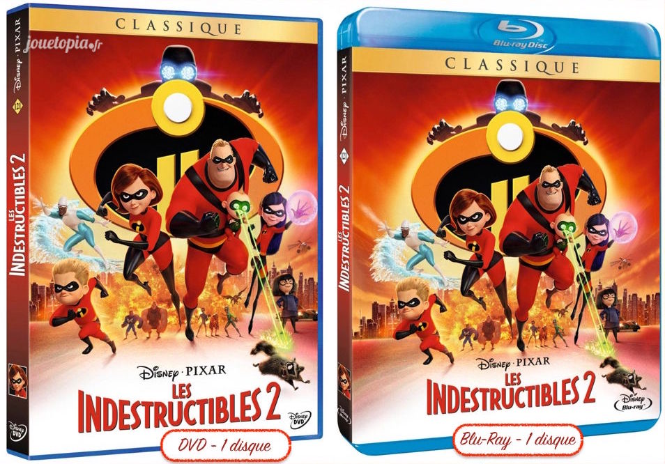 DVD et Blu-Ray standards Les Indestructibles 2