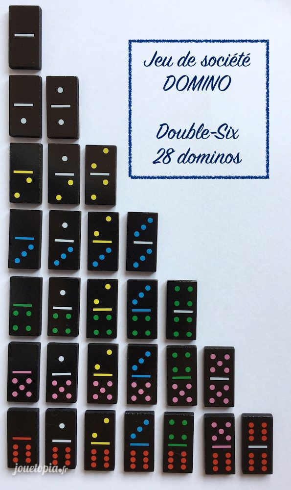 Liste des Dominos Double-Six