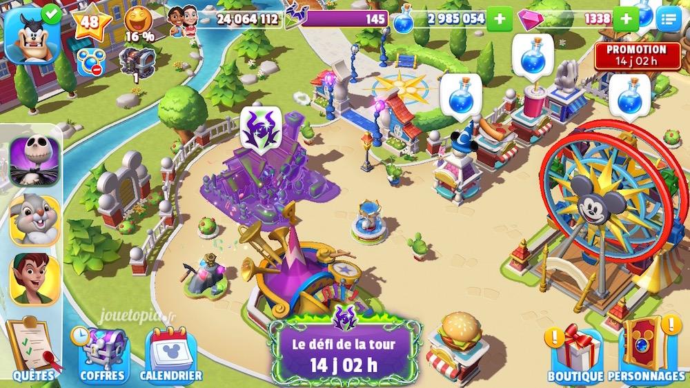 Attractions maudites dans Disney Magic Kingdoms