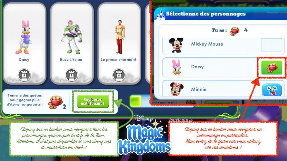 Revigorer les personnages dans Magic Kingdoms