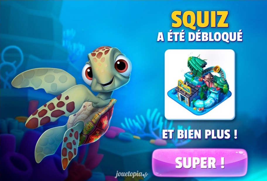 Squiz (Nemo) dans le jeu Disney Magic Kingdoms