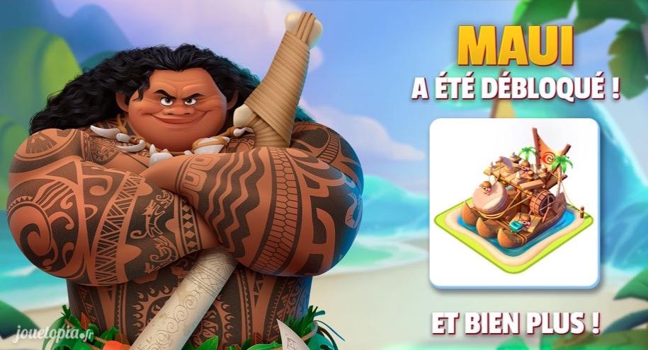 Maui (Vaiana) dans Disney Magic Kingdoms