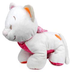 Peluche chat blanc Noukies