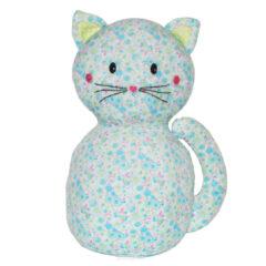 Peluche chat Mia Carré Blanc
