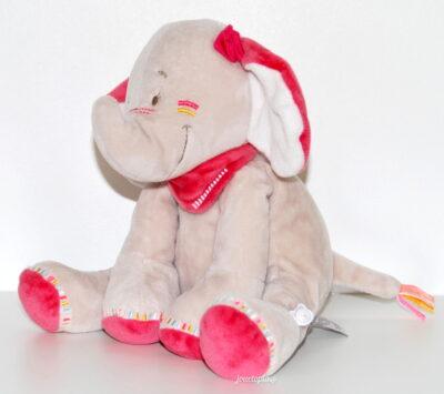 Peluche doudou Anna Noukies l'éléphante
