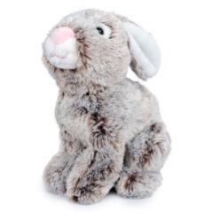 Peluche lapin gris assis Gipsy très doux