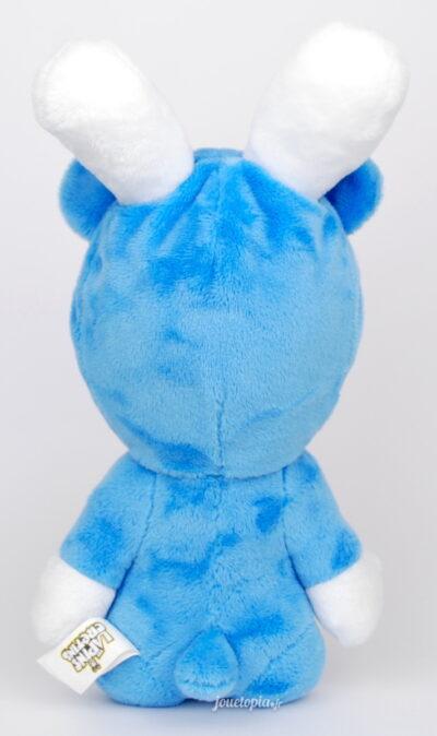 Peluche Lapin Crétin en pyjama bleu