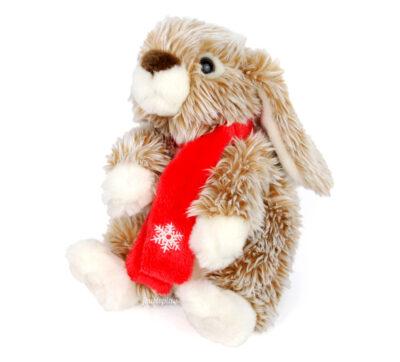 Peluche Lascar lapin avec écharpe de Noël