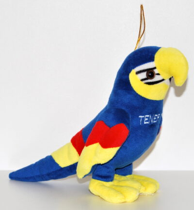 Peluche doudou perroquet bleu de Tenerife (Canaries)