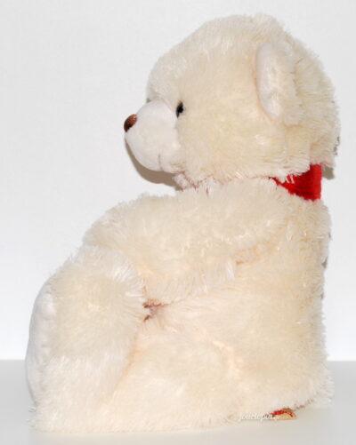 Peluche ours Keel Toys beige écharpe rouge