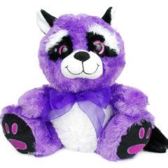 Peluche violette Raton Laveur aux gros yeux