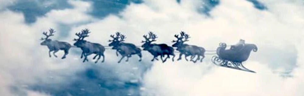 Le Père Noël et ses rennes
