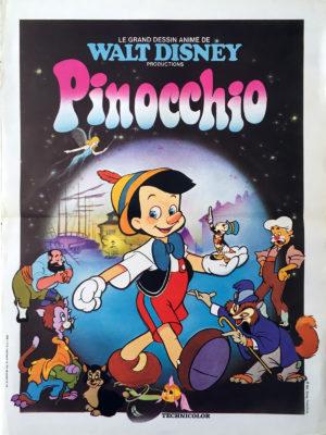 Pinocchio (affiche vintage Disney)