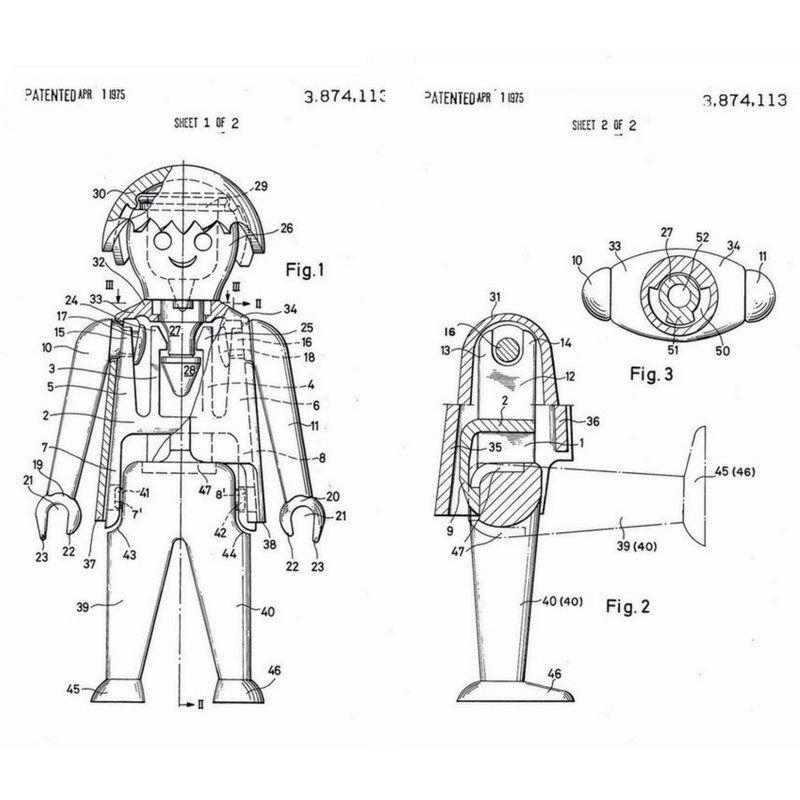 Croquis de brevet Playmobil