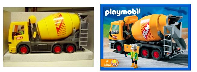 Exemple de contrefaçon Playmobil