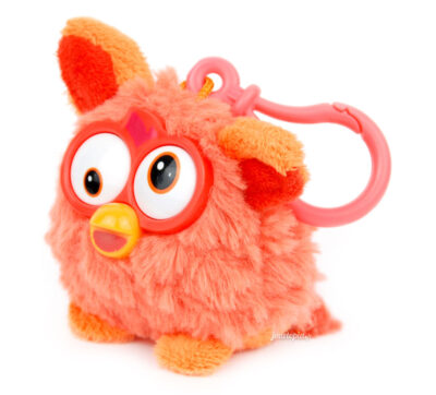 Porte-clés Furby peluche orange