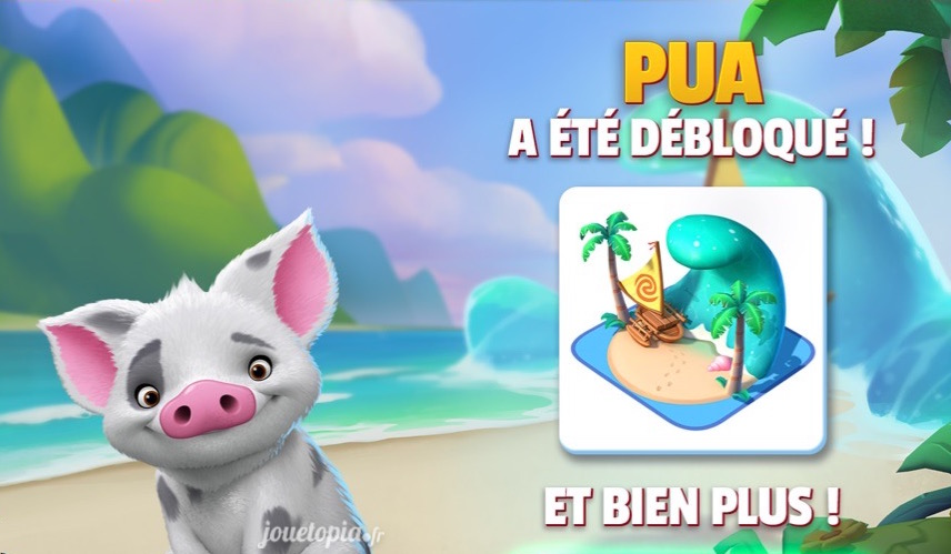 Pua (Vaiana) dans Disney magic Kingdoms