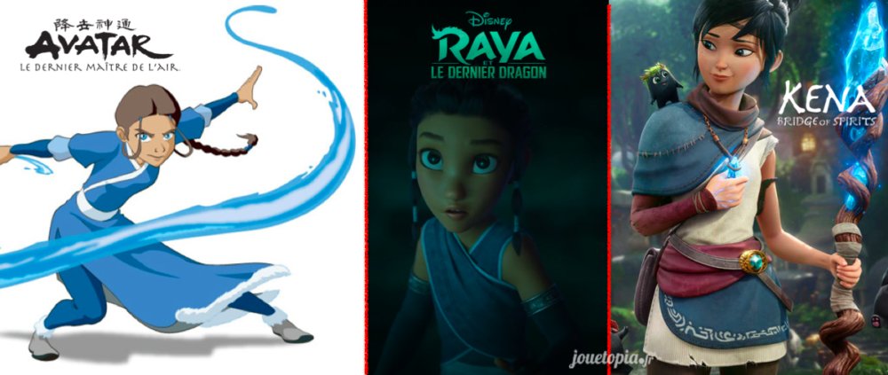 Ressemblance Raya avec Katara et Kena