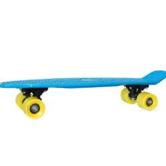Skateboard bleu et jaune - Longboard