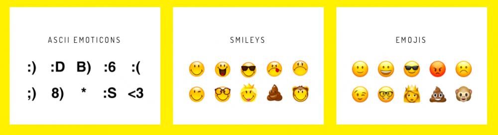 Evolution des smileys