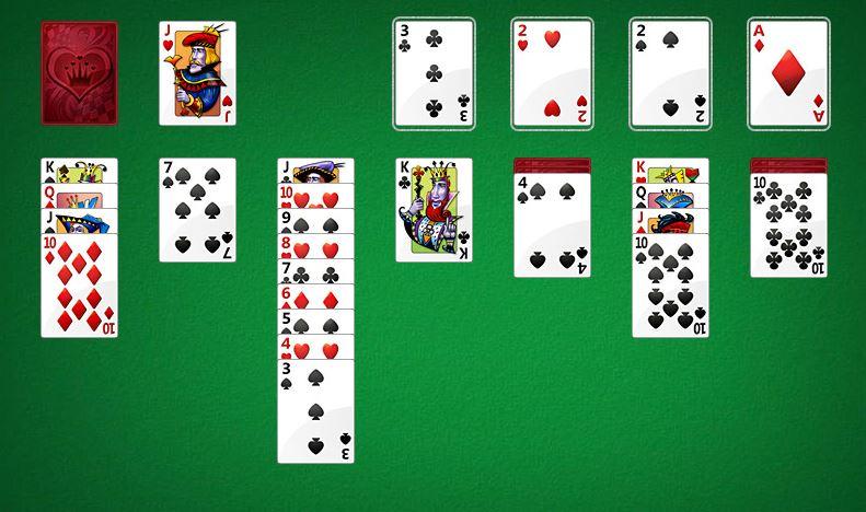 Jeu de cartes : Le Solitaire