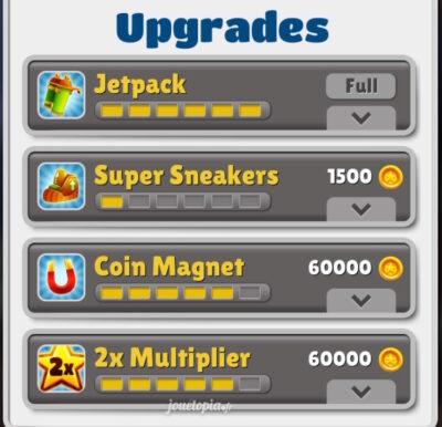Subway Surfers : Upgrades