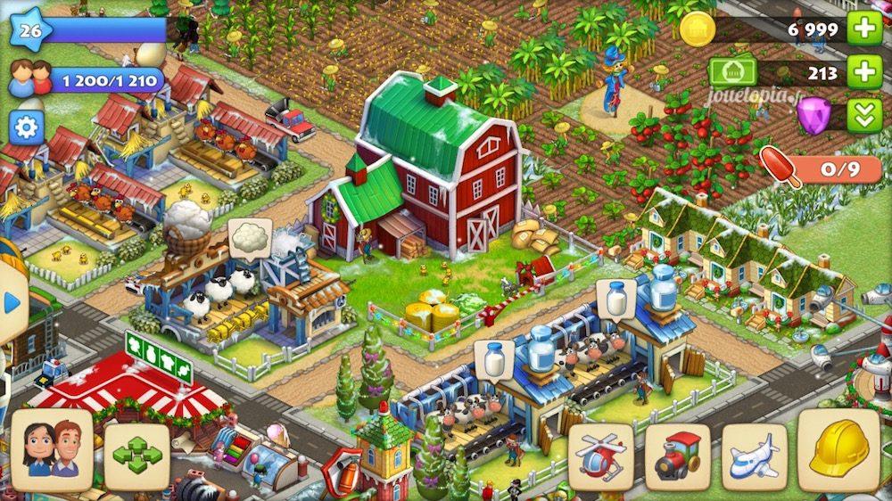 Une petite ferme dans Township