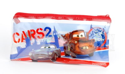 Trousse d'école Cars 2 (Pixar) - Verso